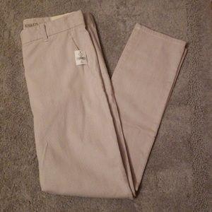 Gap White&Gray Khakis Skinny Crop
